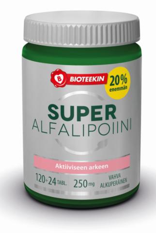 Super Alfalipoiini Bonus 120+24 tabl, Bioteekki