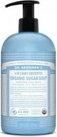 Orgaaninen sokerisaippua Baby mild tuoksuton 355ml, Dr. Bronner's