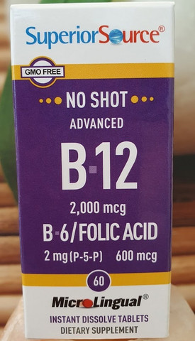 Superior Source, Advanced B-12 60kaps