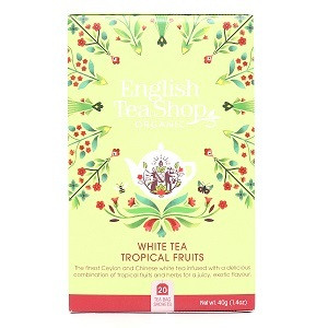 English tea shop, white tea, tropical fruits, 20pss