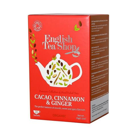 English tea shop, cacao, cinnamon & ginger