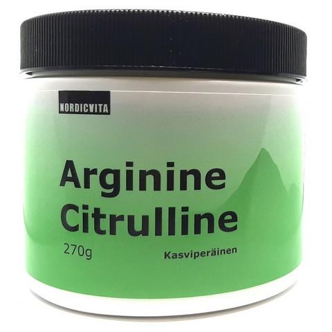 Arginiini-Sitrulliini 270g, Nordicvita