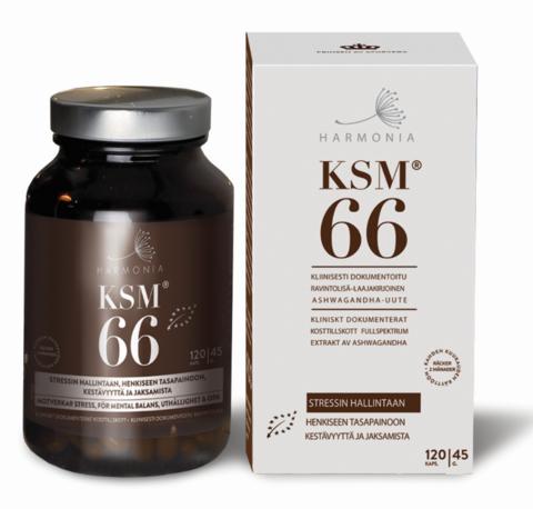 Harmonia KSM66® Ashwagandhauute 120 kaps