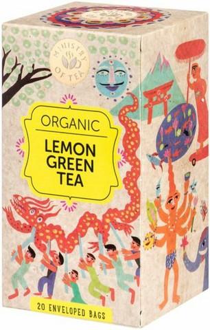 Lemon green tea 20x35g, Ministry of Tea
