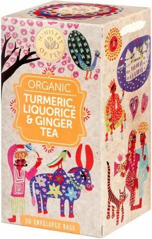Tumeric, liquorice & ginger tea 20x35g, Ministry of Tea