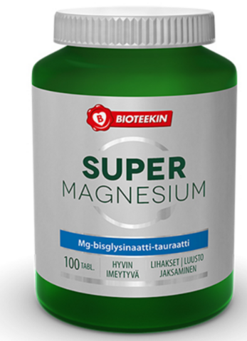 Super magnesium 100+20tabl, Bioteekki