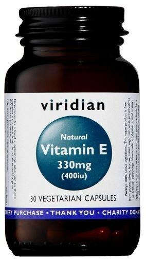 Luonnollinen E-vitamiini 90kaps, Viridian