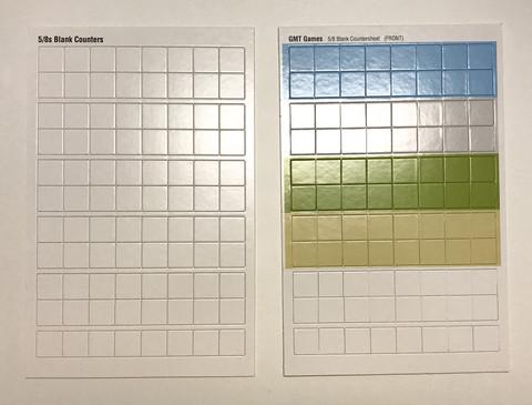 GMT Blank Counter Sheet