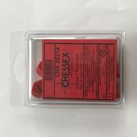 Chessex Punaisia D10 noppia, 10 kpl