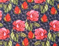 Trikookangas punaiset ruusut