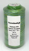 Monivärinen ompelulanka 100% polyesteri - sinivihreä