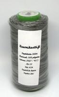 Monivärinen ompelulanka 100% polyesteri - mustaharmaa