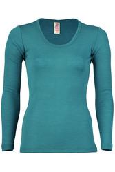 Engel naisten merinovillainen paita, turkoosi