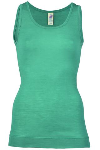 Engel naisten silkkivillainen hihaton paita, turkoosi