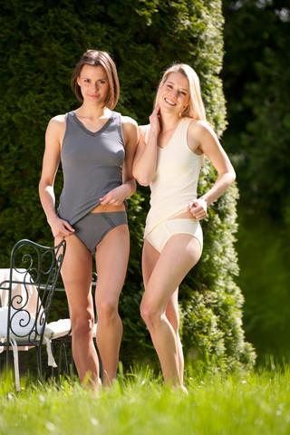 Engel naisten puuvillainen hihaton paita, luonnonvalkoinen