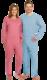 Potilashaalari, pitkät hihat ja lahkeet
