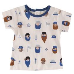 Pigeon t-paita merirosvoprintillä, lyhyet hihat
