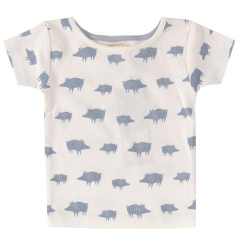 Pigeon t-paita sinisellä possuprintillä, lyhyet hihat