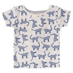 Pigeon t-paita kissaprintillä, lyhyet hihat