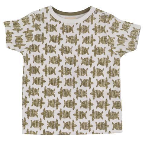 Pigeon t-paita kilpikonnaprintillä, lyhyet hihat