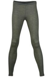 Engel silkkivillaiset naisten leggingsit, pähkinänruskeat
