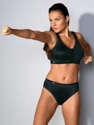 Anita Active edestä avattava urheiluliivi musta