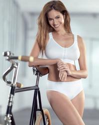 Anita Active edestä avattava urheiluliivi valkoinen