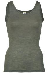 Engel naisten silkkivillainen hihaton paita pähkinänruskea