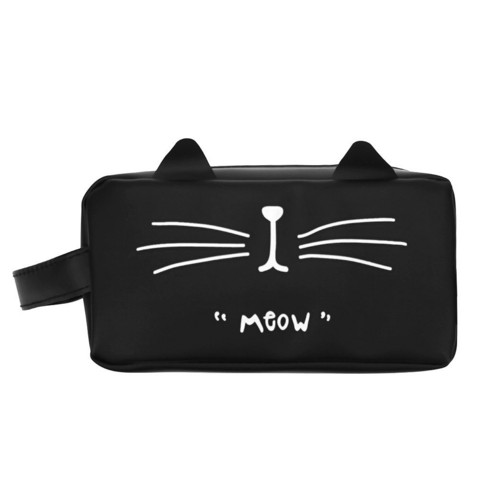 Meow Cat pen pouch, black