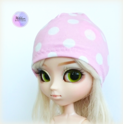 Polka Dot beanie, light pink
