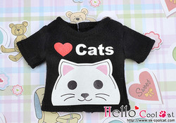 Cool Cat Collection Love cats T-paita, musta