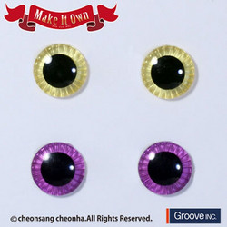 Eyechip Lemon Yellow & Red Purple