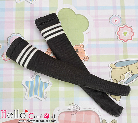 Cool Cat Collection Knee Printing Socks - Black+White