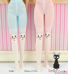 Cool Cat Collection Printing Pantyhose Cats - pink