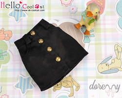 Skirt with pocket, black