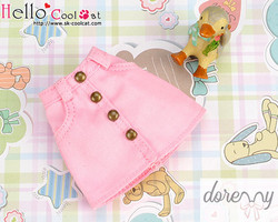 Skirt with pocket, pink