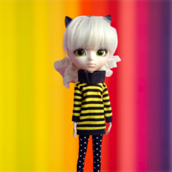 Cool Cat Collection Sweatshirt with collar - black-yellow