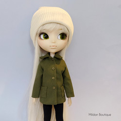 Jacket with buttons - green