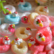 Donut with strawberry - miniature