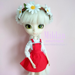 Pinafore - red