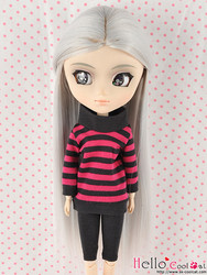 Long Straight Wigs - Gray Silver