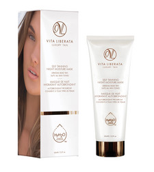 VITA LIBERATA Night Mask Asteittain Ruskettava & Hoitava Yönaamio 65ml