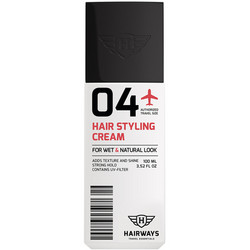 HAIRWAYS 04 Hair Styling Cream 2 in 1 Matkakokoinen Voimakaspitoinen Muotoiluvoide 100ml