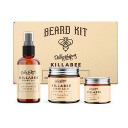 DICK JOHNSON Killabee Beard Kit Natural lahjapakkaus