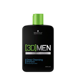 SCHWARZKOPF [3D]MEN. Deep Cleansing Syväpuhdistava shampoo 250ml
