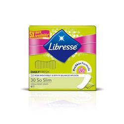 LIBRESSE Daily Fresh So Slim Pikkuhousunsuoja 30kpl
