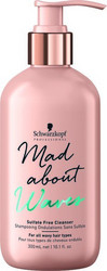SCHWARZKOPF BC Bonacure Mad About Waves Sulfate Free Cleanser Kosteuttava Shampoo 300ml