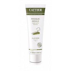 CATTIER PARIS Face Clay Mask Oily Skin Naamio Rasvoittuvalle Iholle 100ml