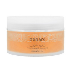 BEBARÉ Luxury Gold Facial Scrub with Champagne Virkistävä Kuorinta-Aine 250ml