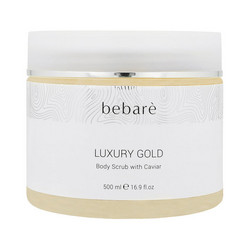 BEBARÉ Luxury Gold Body Scrub with Caviar Hellävarainen Kuorintavoide 500ml
